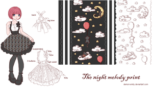 The night melody print by Demon-Emily