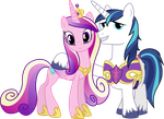 Cadance and Shining Armor by GameMasterLuna