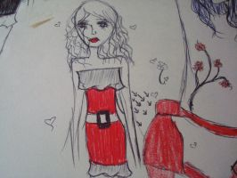 Girl In Red Dress by AmyFlofire96