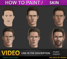 how to paint skin tutorial by JesusAConde