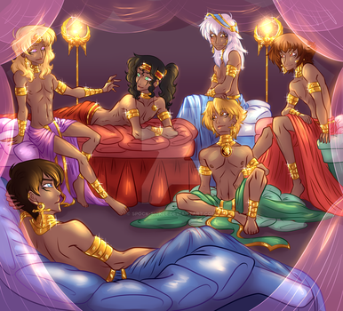 The Pharaoh's Harem by spock-sickle