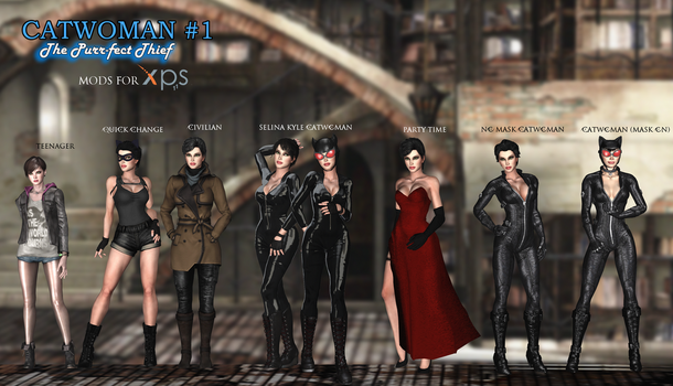 Catwoman - The Purrfect Thief Mod Pack for XNALara by arpith20