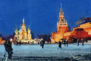 Moscow. Red Square by Artgenii