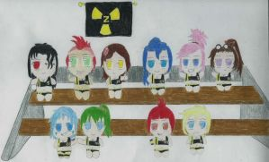 Nuclear Z Team Chibis by trevorv87
