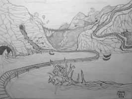 Old scenery sketch by Manasurge