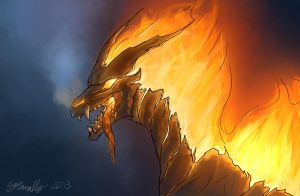 Fire Dragon by PurpleTigress