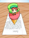 stranded on top of a pencil by SouthParkFantasy