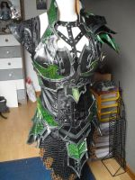 druchii female armor and the costume (unfinish) by Deakath
