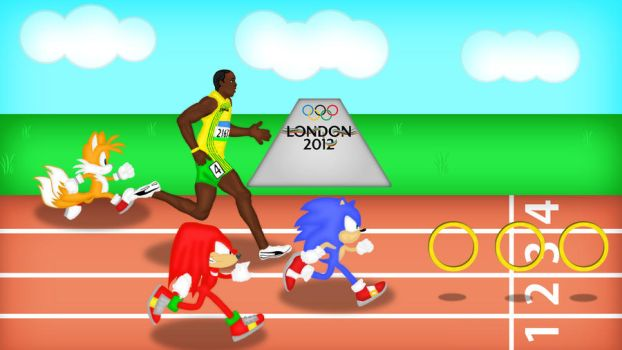 Olympics 2012 Series - Sonic The Track Runner by AngelXStrider
