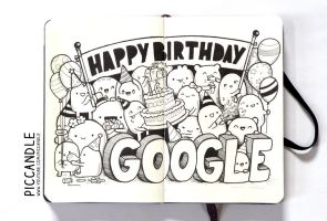 Doodle - Happy Birthday Google ! :D by PicCandle