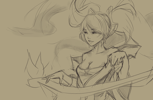 Sona Sketch by Inkintime