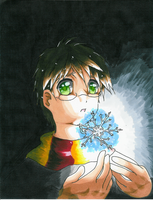 Harry Potter + Glowing Snow by BloodRubiesNata