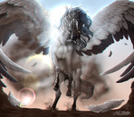 .:| Achilles the Pegasus |:. | Commission by BRls-love-is-MY-Live