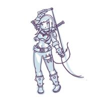 katarina with a whip by prochyprochy
