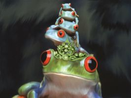 The Queen of the Frogs by xlosix