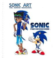 sonic and sonic art com by sonicart101