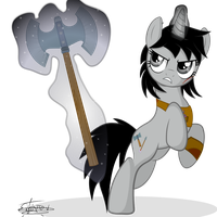 Iron Sparkle Axe by frozenfish696