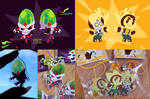 Ratchet, Clank and Nefarious charms by chicinlicin