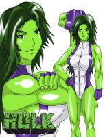 MvC3 - She-Hulk by Wyvern07