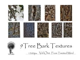 Twisted Mind Tree Bark Texture Pack 1500pxl Vol 1 by Textures-and-More