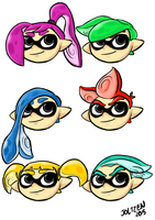 Inkling Hair Variations by joltzen