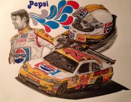 Jeff Gordon 2009 Pepsi Throwback/ Talladega Car by JonOwens