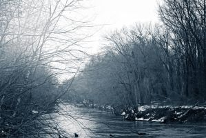 Winter River by x-chriscross-x