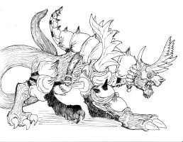 Armored Behemoth BW by avancna