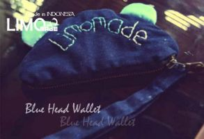 Blue Head - Handmade Wallet by LIMOmade