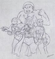 Avengers Assemble Sketch by Leenspiration