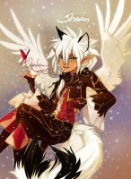 Shaan Rival and red Butterfly by Orphen-Sirius