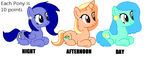 Times of the Day Adoptables MLP (OPEN) by Pinkamena483