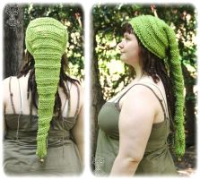 Apple Green pixie hat with reliefs by Azenora21