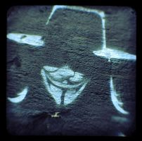 Anonymous StreetArt Guy Fawkes Oslo by OpGraffiti