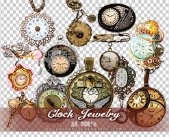 Clock Jewelry PNGs by Bellacrix