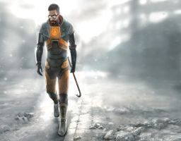 Gordon Freeman HL2 Wallpaper by haadurin