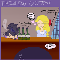 (gift) Gelea OC's: Who can hold their liquor? by Pl-e-a-s-e