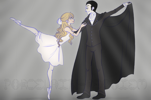 The Ballerina + The Ghost by Porcelain-Requiem
