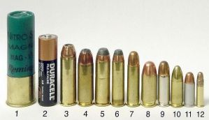 Comparative handgun rounds by Epicsunrise