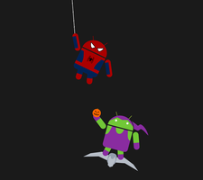Android Spidey and Goblin by BJ-O23