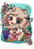 Chibi commission: Siren by Red-Birdie
