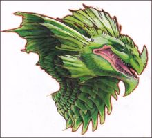 Copic session green creature by Ryoseth-CP