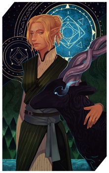 Commission: Kaunis Dhea tarot by RedlyJester