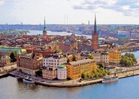 Stockholm by T-Douglas-Painting