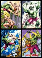 Hulk sketchcards by whu-wei