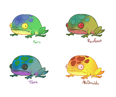 Frog concepts by TornAroundtheEdges
