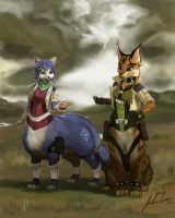 Krystal and the Taur Device by JECBrush