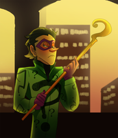 Riddler Is Not Amused by pink-ninja