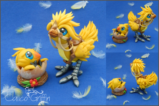 Custom: Chocobo family by CalicoGriffin