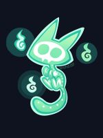Ghostly cat by inkinesss